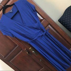 Faux-wrap dress S